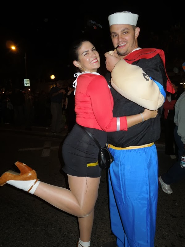 Olive Oil Popeye costumes West Hollywood Halloween Carnaval