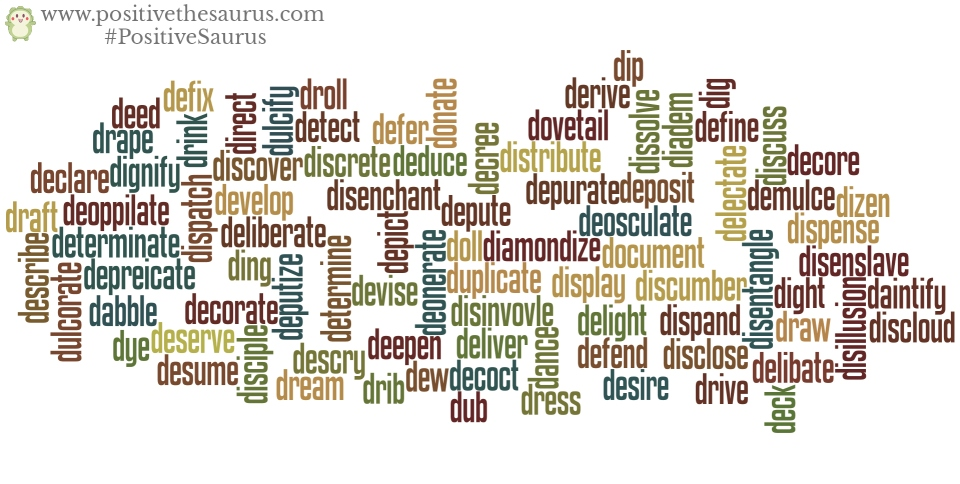 positive verbs that start with d