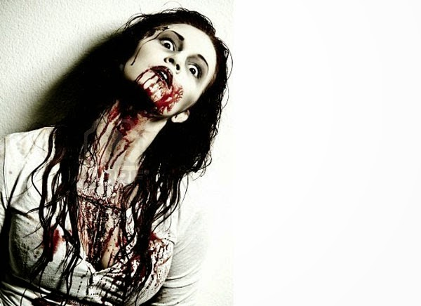 Halloween Awesome Scary Makeup of Girl