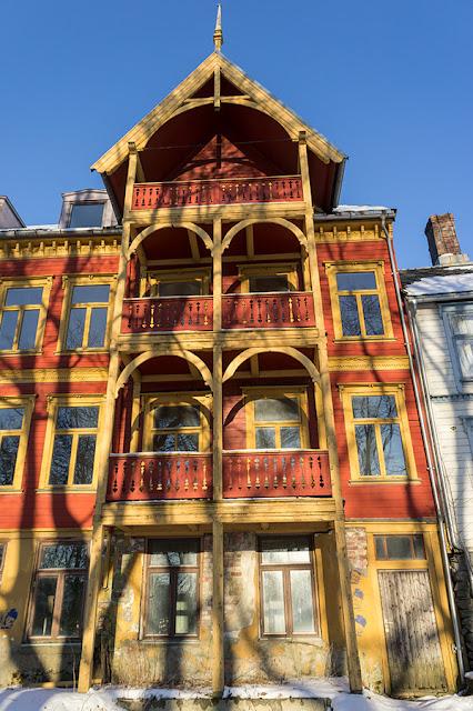 Drewniana zabudowa Trondheim