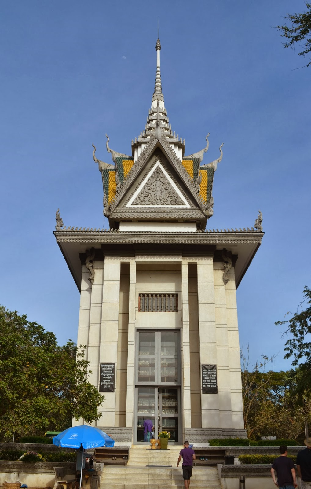 the killing fields memorial stupa phnom penh cambodia