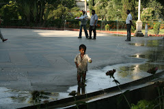 Little boy at garden in Udaipur