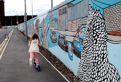 Street art at Queen Elizabeth Olympic Park