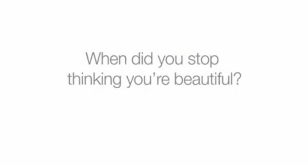 Quando você deixou de se achar bonita? campanha dove blog Mamãe de Salto ==> imagem retirada da internet
