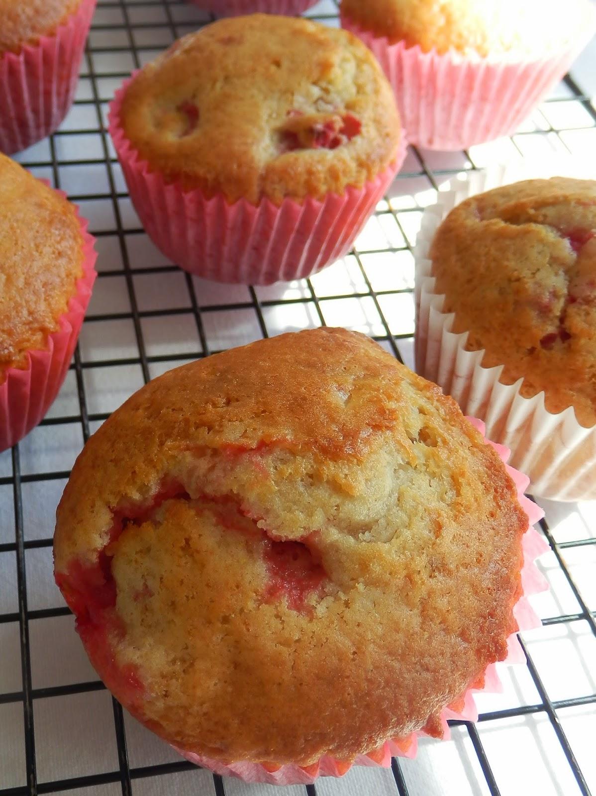 Strawberry and Orange muffins