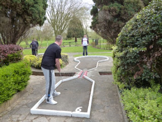 Minigolf at the Abbey Meadows Crazy Golf course in Abingdon-on-Thames