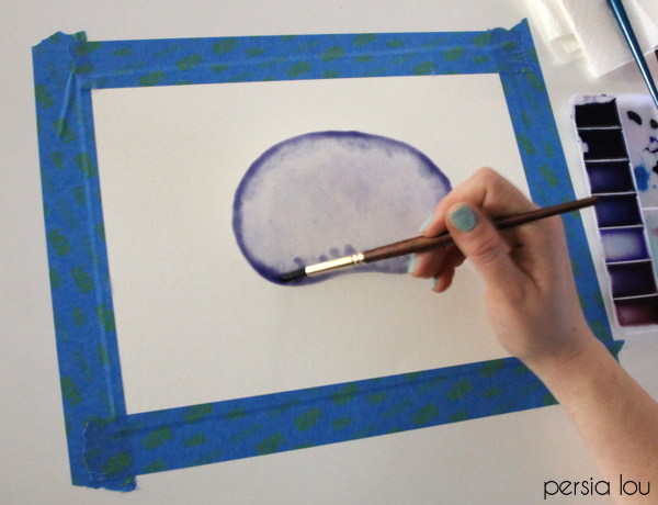 How to Paint Watercolor Agate Slices