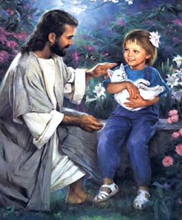 Jesus, Jesus Cristo, Criança, Jesus e a menina, Jesus and the girl, cat