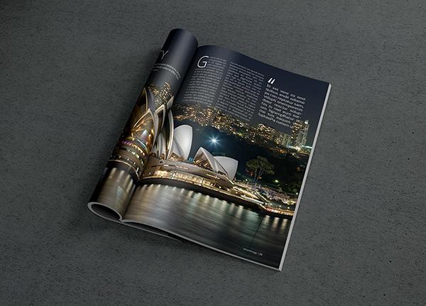 Download Gratis Mockup Majalah, Brosur, Buku, Cover - Photorealistic Magazine MockUp #2