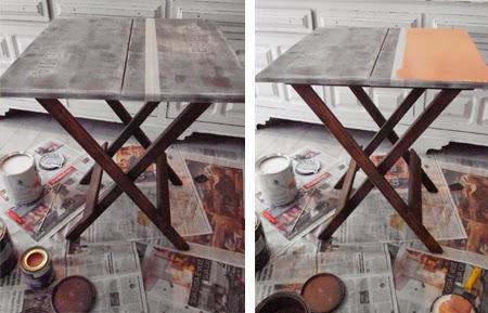 pintar uma mesa