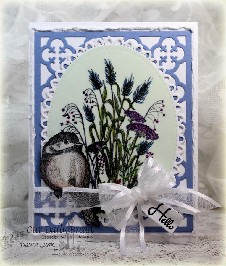 Stamps - Our Daily Bread Designs You Will Find Refuge, Miss You, ODBD Custom Chickadee Die, ODBD Custom Quatrefoil Pattern Die, ODBD Custom Mini Tags Dies