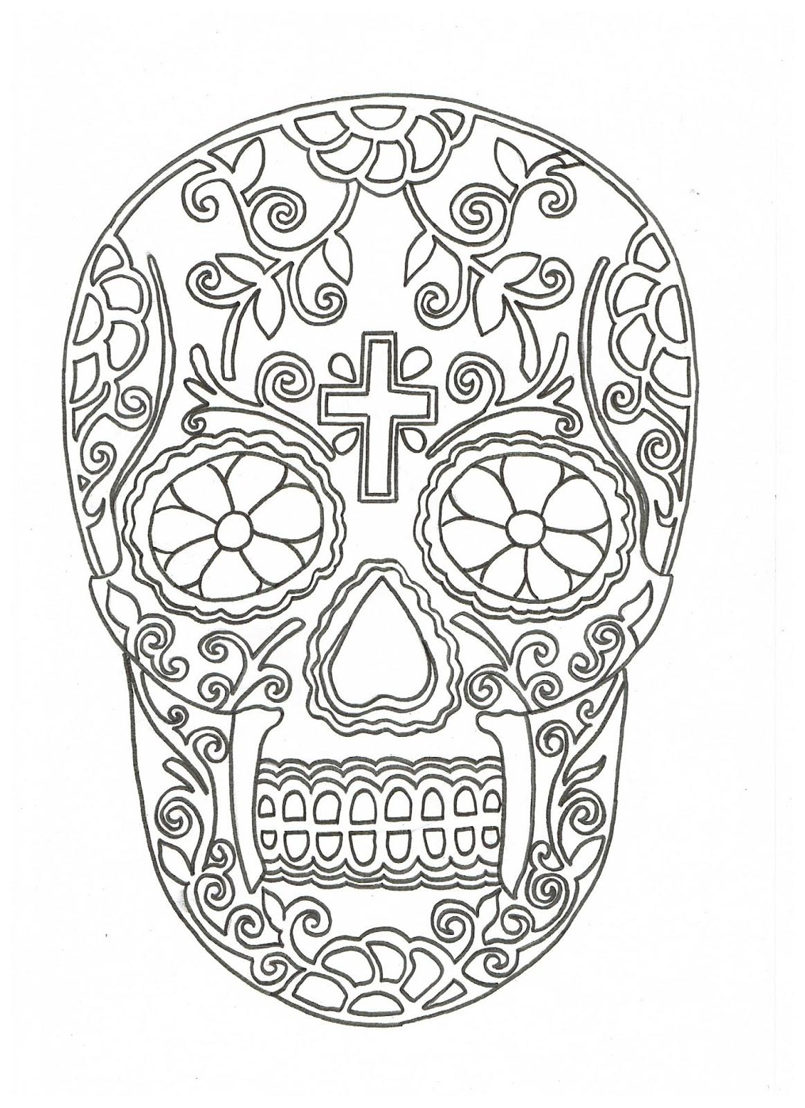 L piz y papel calavera mexicana for Papel para dibujar