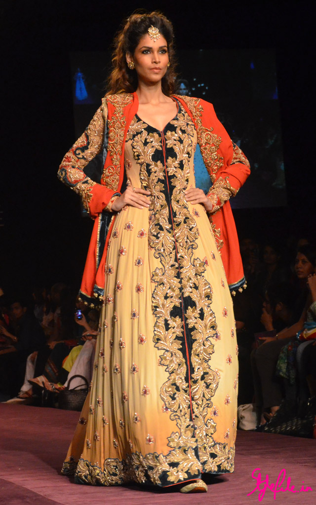 lakme fashion week shyamal bhumika lehenga jacket