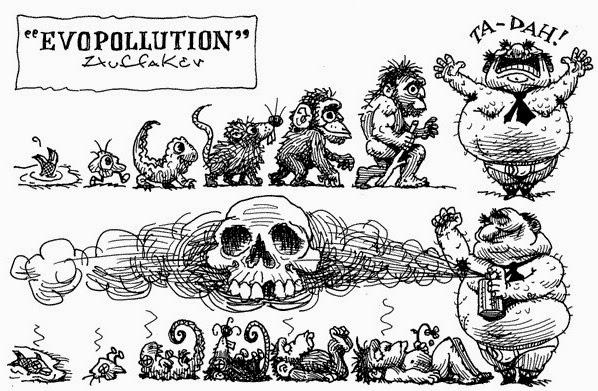 Sandy Huffaker: Evopollution.