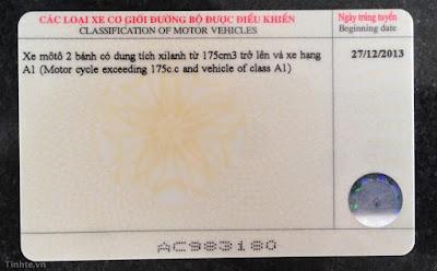 Các bước đổi và ghép bằng lái cũ thành thẻ nhựa PET mới - 37290