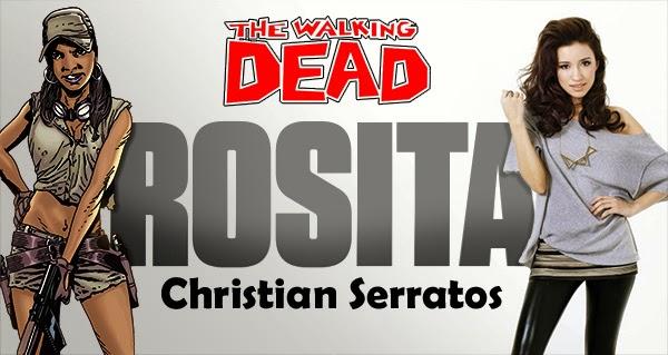 Christian Serratos sera Rosita en The Walking Dead T4