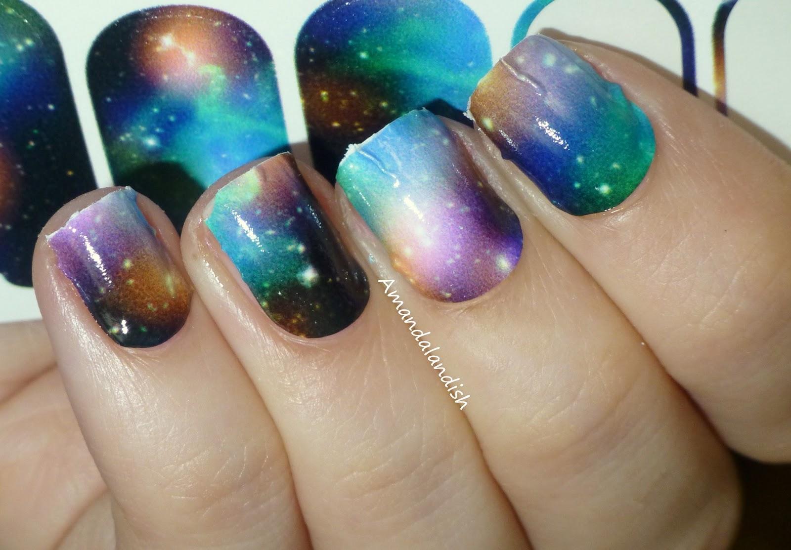 Amandalandish: NCLA Nail Wraps in Stephanie\'s Galaxy