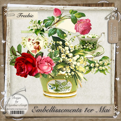 "Free scrapbook ""Embellissements for 1st May - PU"" from Cajoline scrap"