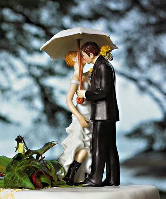 Gnvision - Bolos de casamento engraçados e criativos - Casal romântico