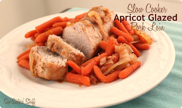 Slow Cooker Apricot Glazed Pork Tenderloin   Six Sisters' Stuff