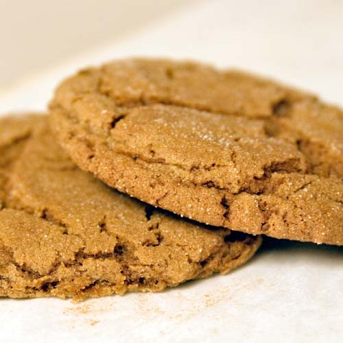 Soft Amazing Molasses Cookies Rolled in Sugar