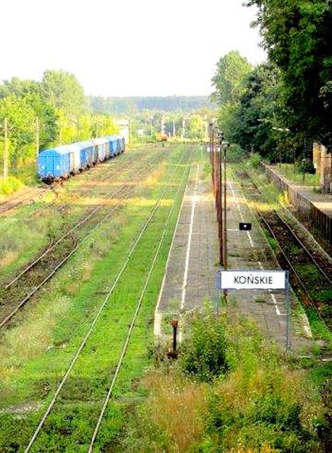 Końskie. Tory kolejowe do Treblinki...