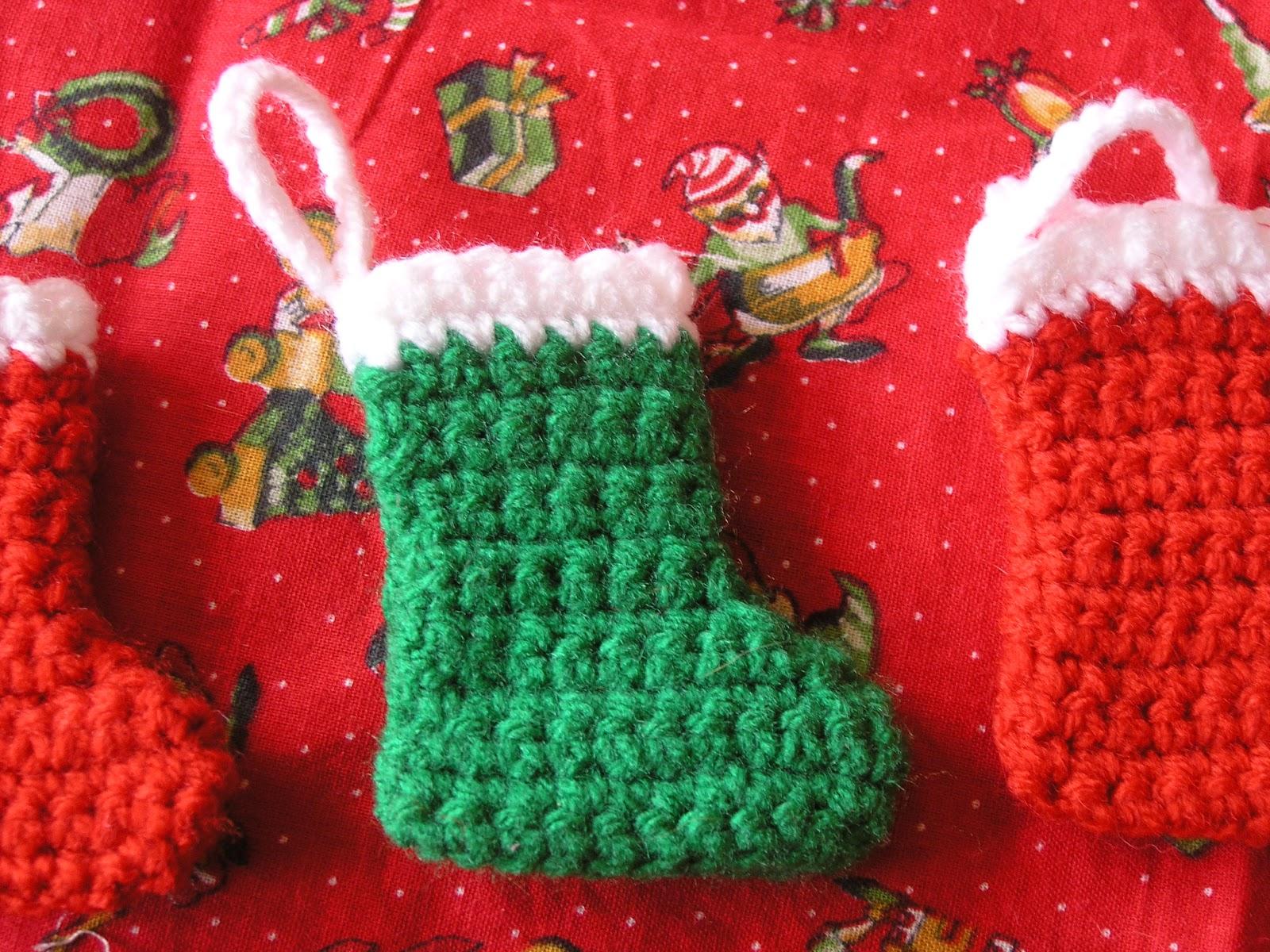 Mini Christmas Stocking Crochet Pattern