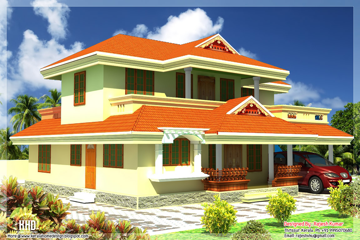 2400 sq.feet Kerala style house architecture - Kerala home design and ...