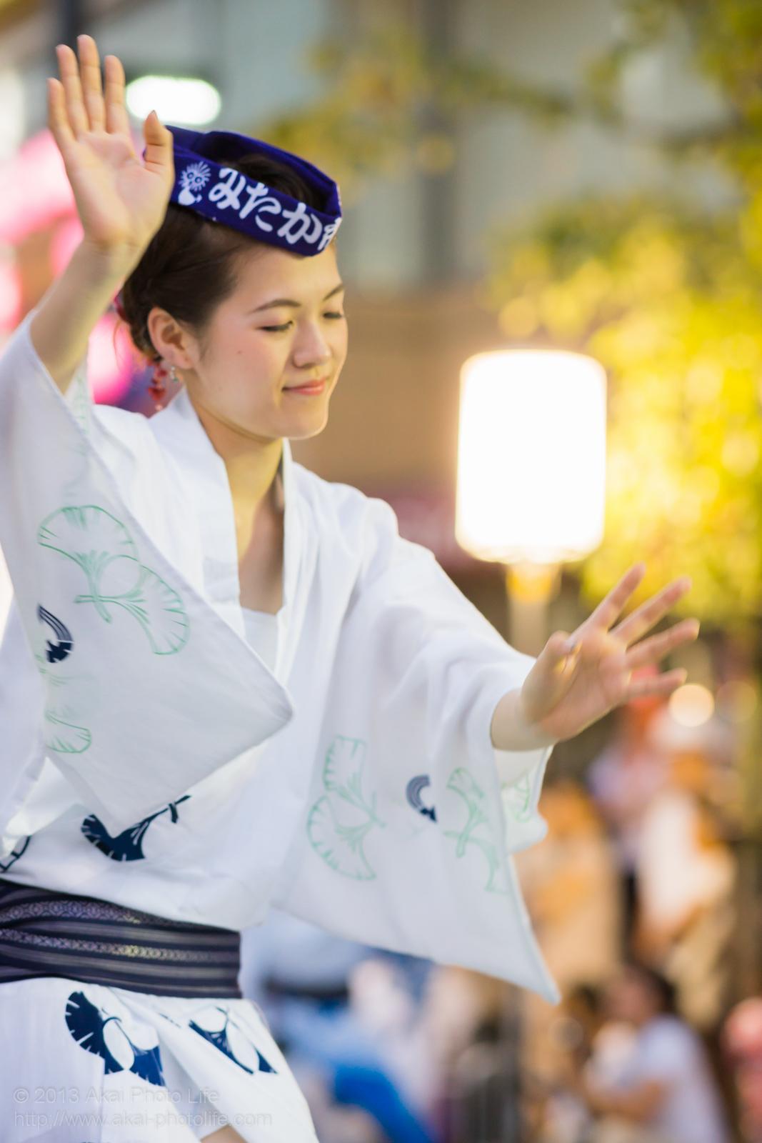 三鷹阿波踊り、みたか市役所連の女性の男踊り