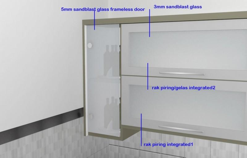 Kitchen set minimalis pintu kaca engsel hidrolis kitchen for Pintu kitchen set