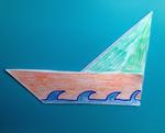 la barchetta origami di Piccola Peste