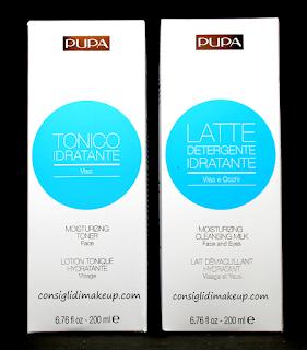 Review: Latte Detergente Idratante & Tonico Idratante - Pupa Milano