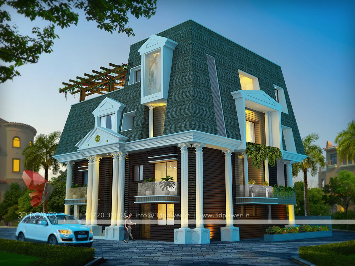 3d Bungalow Rendering Designs