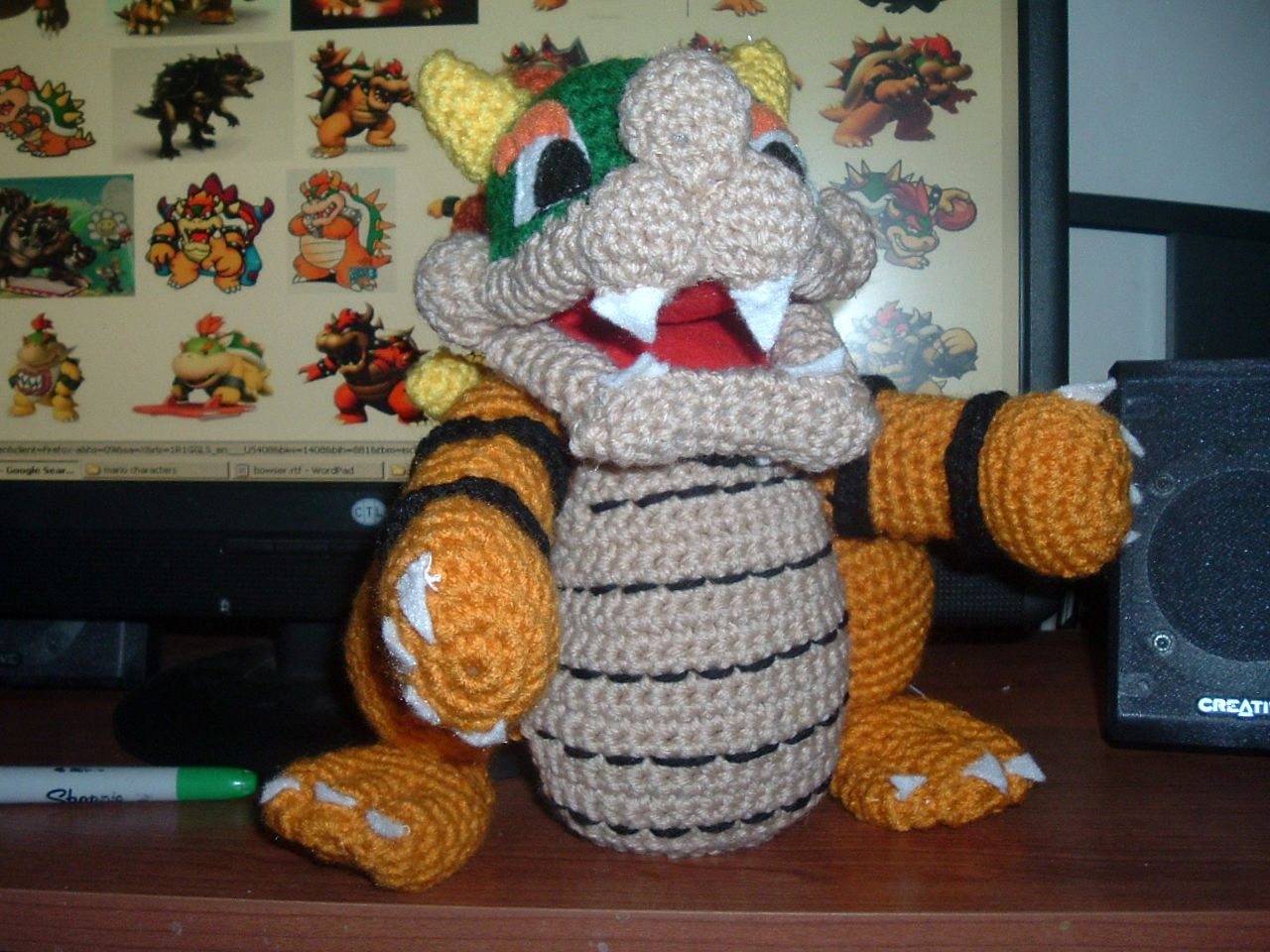 Nanette crochet super mario bowser dt1010fo