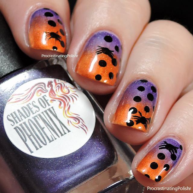 Halloween Nail Art | gradient dotticure
