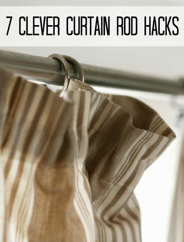 Curtain rod hacks