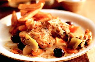 Mediterranean-inspired chicken casserole