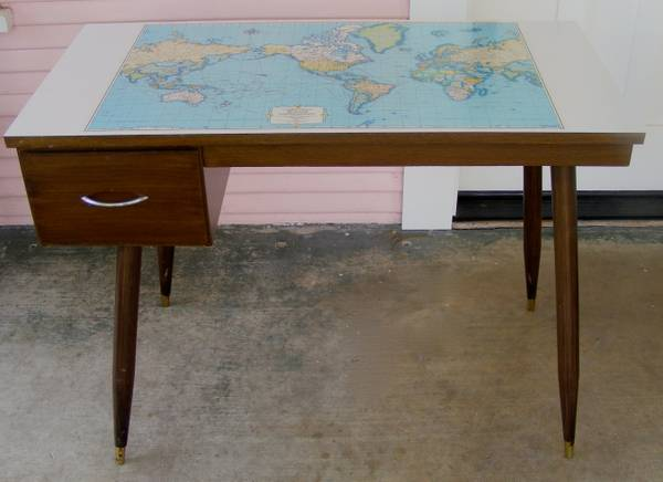 Mad for mid century mid century desk with world map top gumiabroncs Images