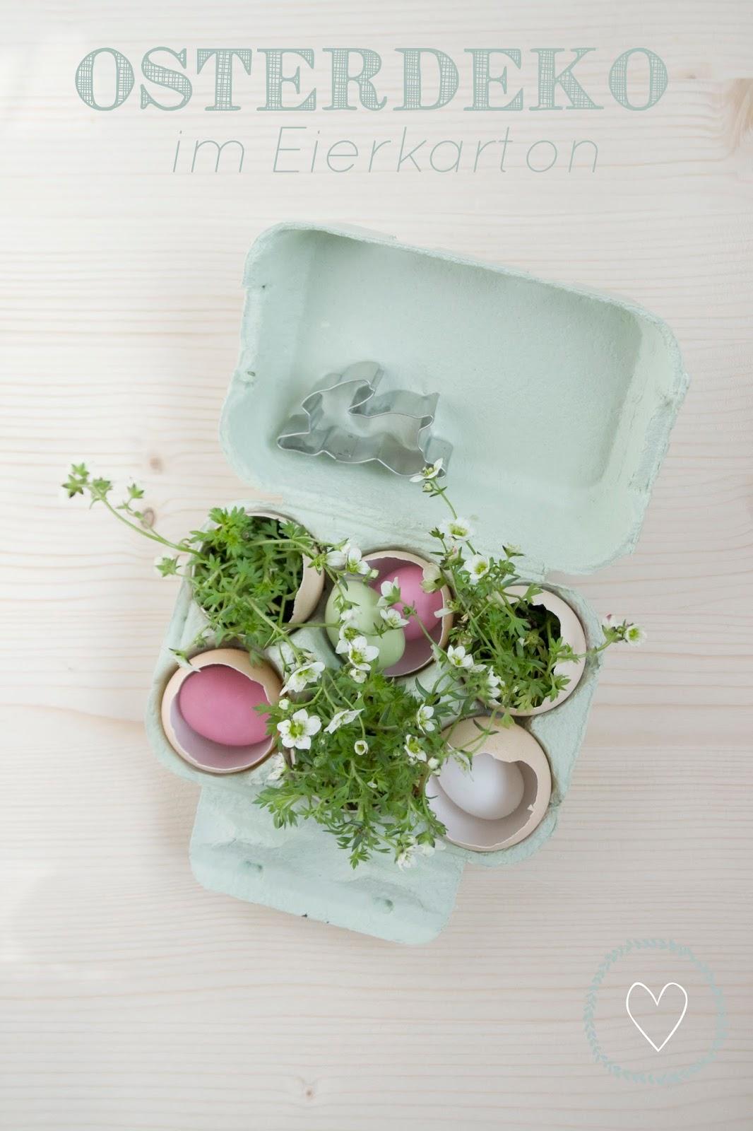Osterdeko im Eierkarton