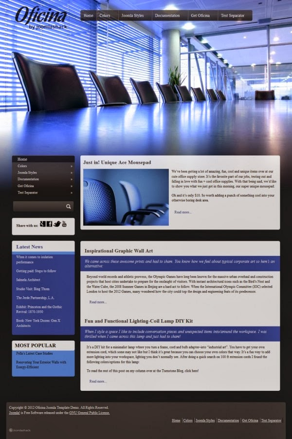 JS Oficina - Joomla 3 Templates