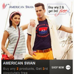 Jabong : American Swan Clothing, Footwears & Accessories upto 30% off + Upto 40% off + Buy 2 Get 1 Free