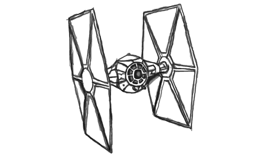 star wars tie fighter coloring coloring pages