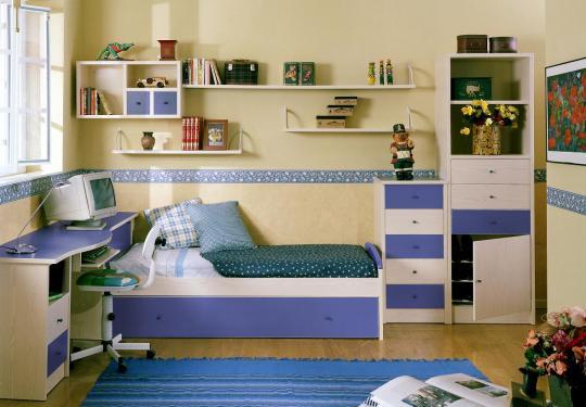 Casa prone - Habitacion juvenil azul ...