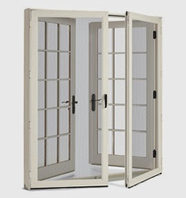 Jenny steffens hobick for Screens for french doors that swing in