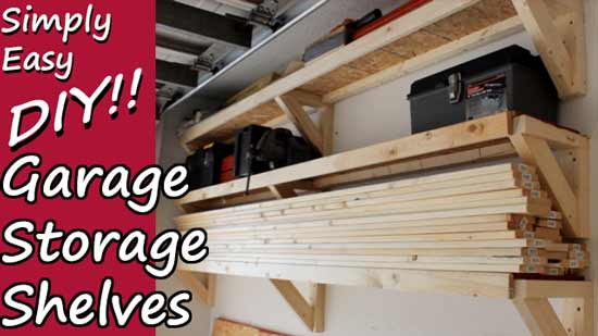DIY Garage Storage Shelves That Are Low Profile Off The Floor And Open Faced I Have Always Had A Hard Time When It Comes To Solutions