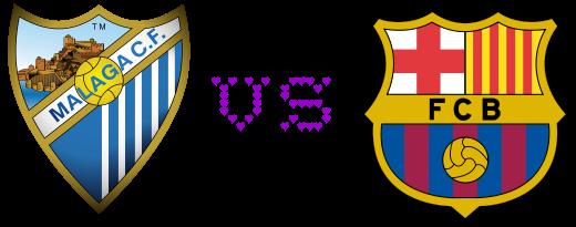 Malaga 1 - 1 Barcelona Goles Primer Tiempo