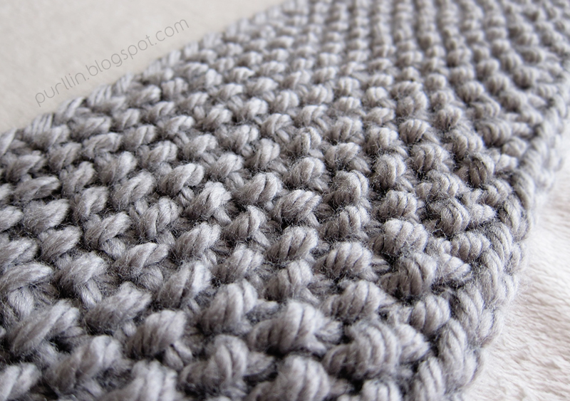Knitting Stitches Seed Stitch : Purllin: December Seed Stitch Infinity Circle Scarf [ free knitting pattern ]