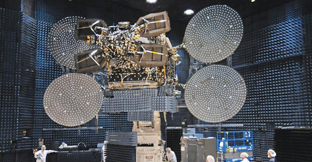 EchoStar XVII (JUPITER 1) satellite. Credit: SSL