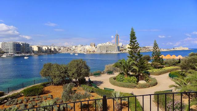 Blue skies in October, Malta