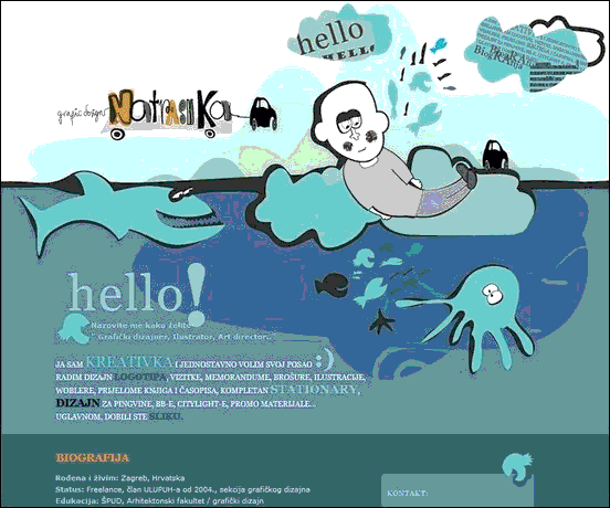 Natrashka - Website design using drawings and illustration